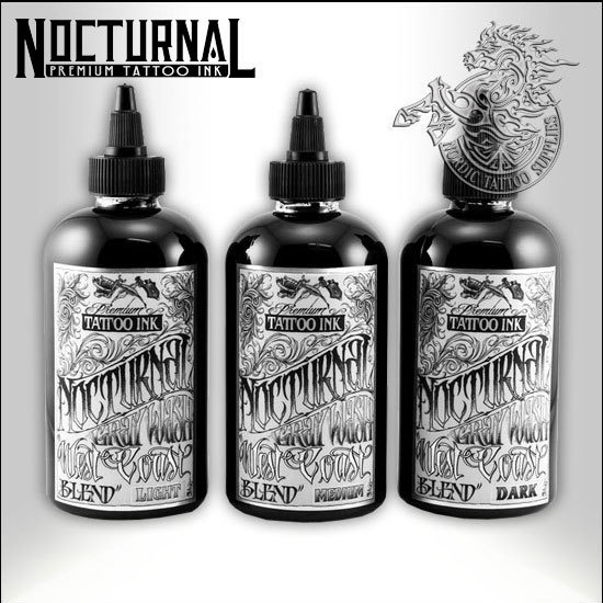 Nocturnal Ink West Coast Blend 120ml Full Kit - Nordic Tattoo Supplies