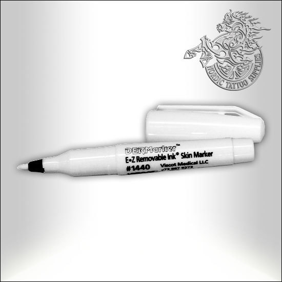 Viscot 1440 EZ Removable Ink Skin Marker 1440 - White
