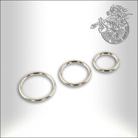 Titanium Segment Closure Ring 1,0mm, 1,2mm & 1,6mm