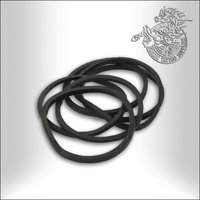 Black Rubber Band, 100pcs