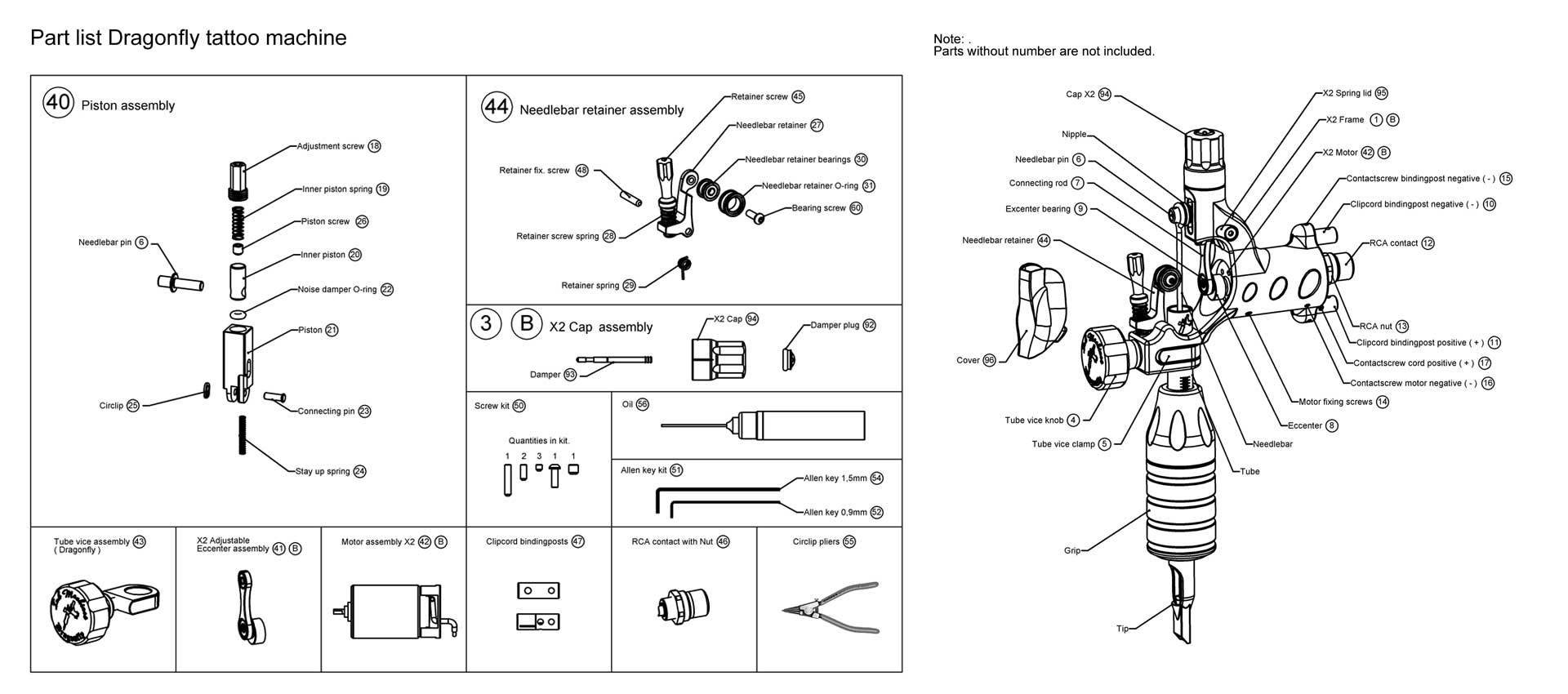 No 44 - Needlebar Retainer Assembly