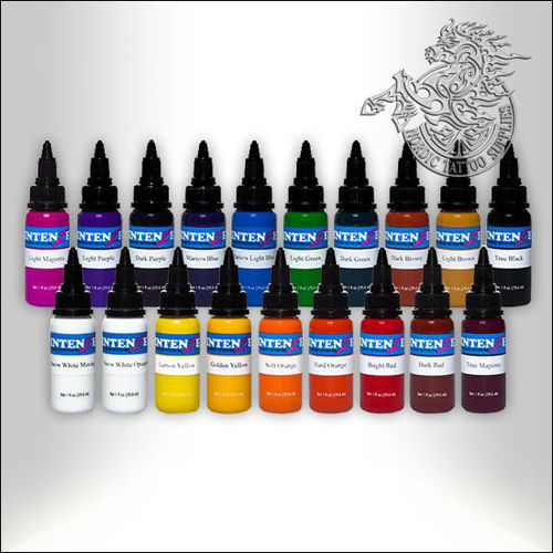 Intenze 19 Color Tattoo Ink Set, 30ml (1oz) Bottles