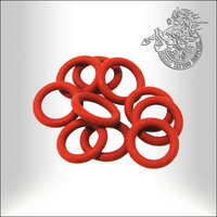 Sunskin O-Rings, Red Silicone, 10pcs