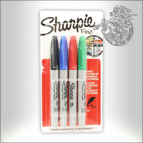 Sharpie Fine Point Marker, 4pcs.