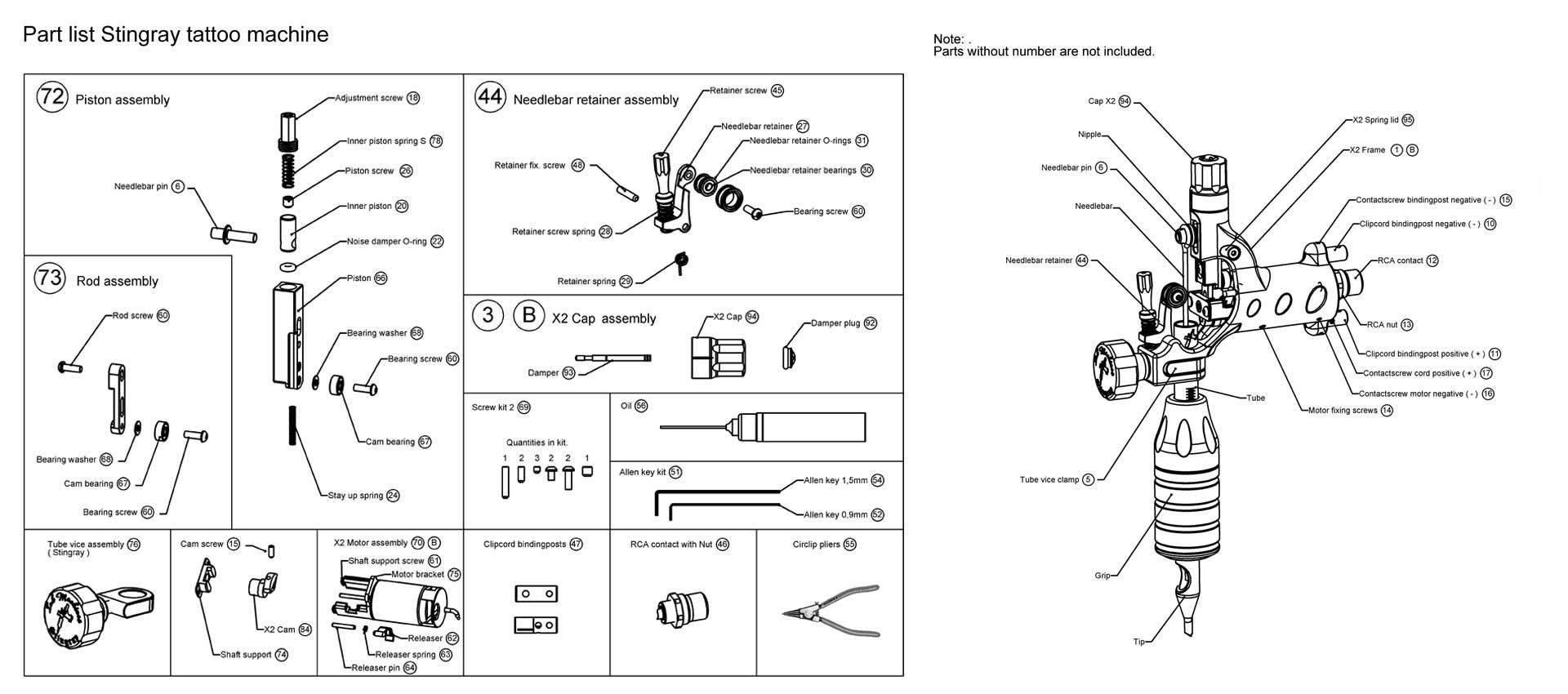 Stingray Motor Assembly Nordic Tattoo Supplies Cheyenne Rotary Machine Diagram
