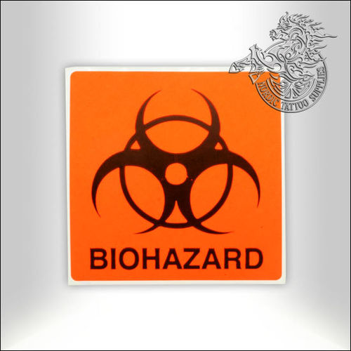 Biohazard Sticker 10x10cm