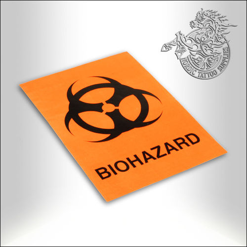 Biohazard Sticker 8,75cm x 12,50cm