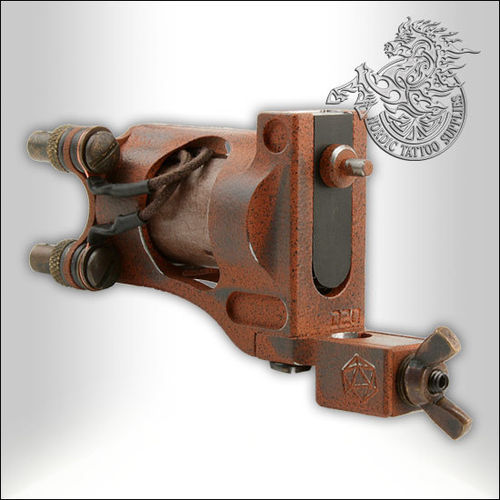 Shagbuilt D20 Tattoo Machine Limited Edition - Scorched Earth -  Clipcord - Guilloutine Vice