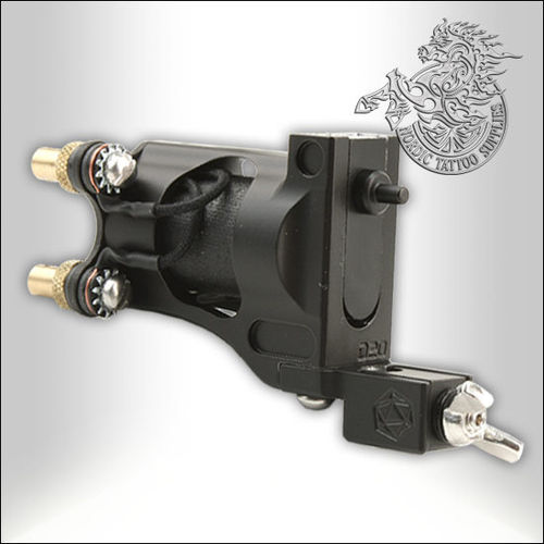 Shagbuilt D20 Tattoo Machine - Matte Black - Guilloutine Vice - Clipcord