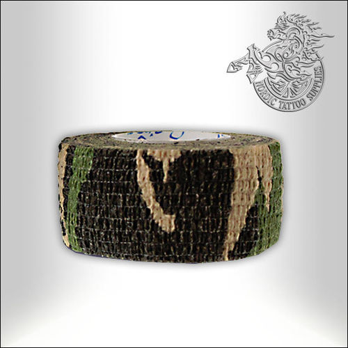 Precision Medical Cohesive Wrap - 25mm - Army