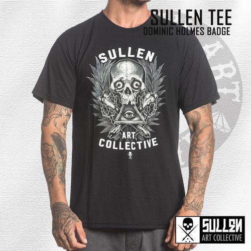Sullen Mens Holmes Badge T-Shirt Black