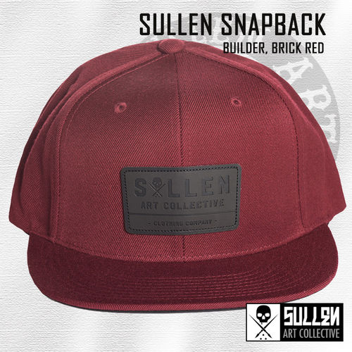 Sullen Snapback - Builder - Brick Red