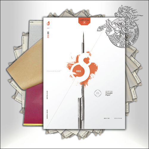 "S8 Red 11"" Transfer Paper 100pcs"