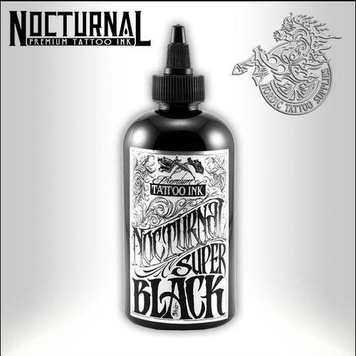 Nocturnal Ink 120ml Super Black Nordic Tattoo Supplies Blacklight & ultra violet tattoo ink. nocturnal ink 120ml super black