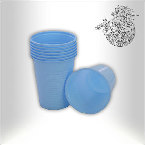 Plastic Cups, 180ml, Blue - 100pcs