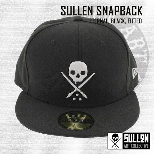 Sullen Fitted Snapback - Eternal - Black