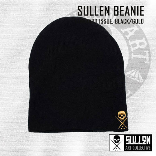 Sullen - NE Standard Issue Beanie - Black/Gold