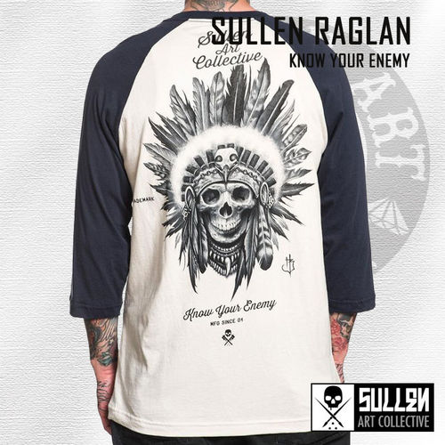 Sullen - Know Your Enemy Raglan - Off White/Navy
