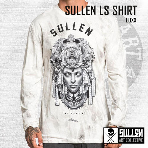 Sullen - Luxx Long Sleeve Shirt - White Marble