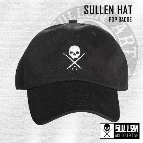 Sullen Hat - Pop Badge - Black/White