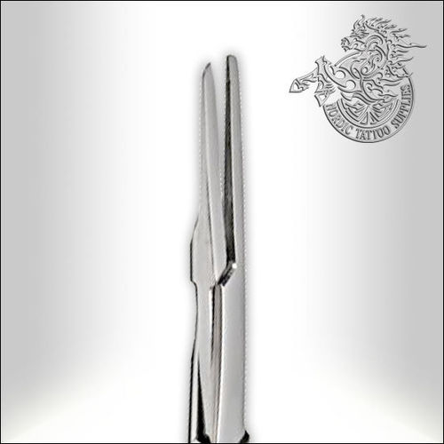 "5"" Stainless Steel Straight Flat Tip Mosquito Forceps"