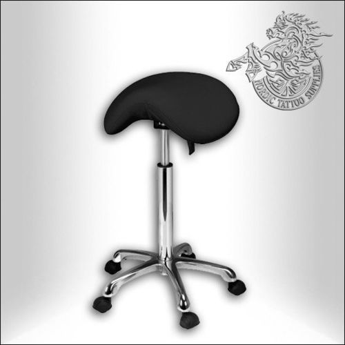 Saddle Stool, Black