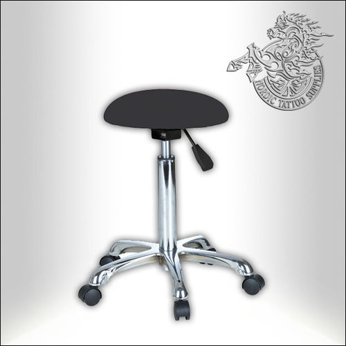 Beautician stool, Round, Black
