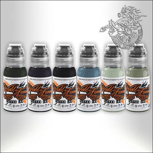 World Famous Ink Poch's Muted Storms Set 6x30ml