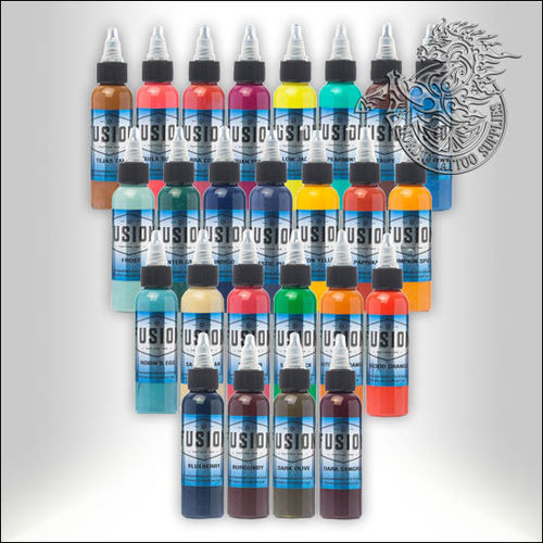 Fusion Ink 25 Color Set 25x60ml - Nordic Tattoo Supplies