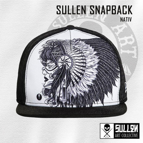 Sullen Snapback - Nativ - Black/White
