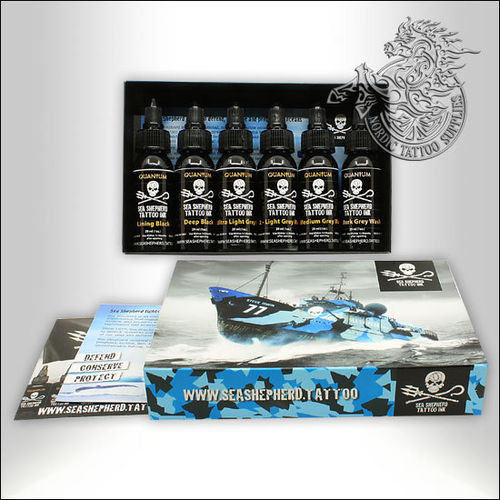 Quantum Ink - Sea Shepherd Greywash Set 6x30ml