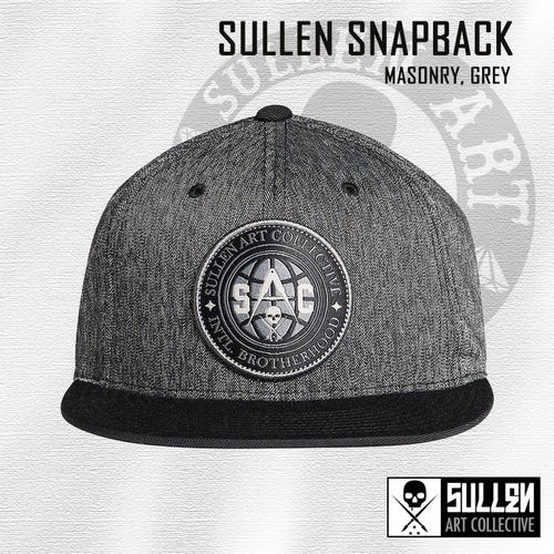 Sullen Snapback - Masonry - Heather Grey/Black