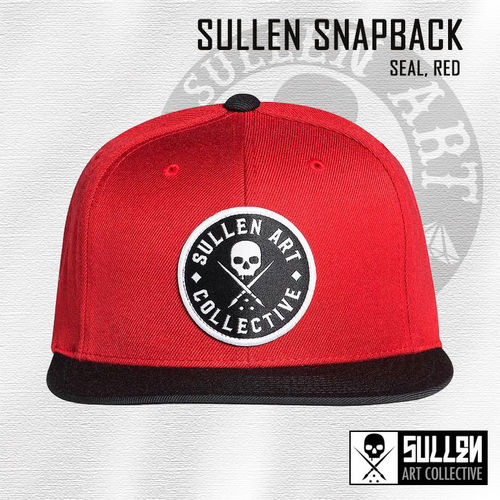 Sullen Snapback - Seal - Red/Black