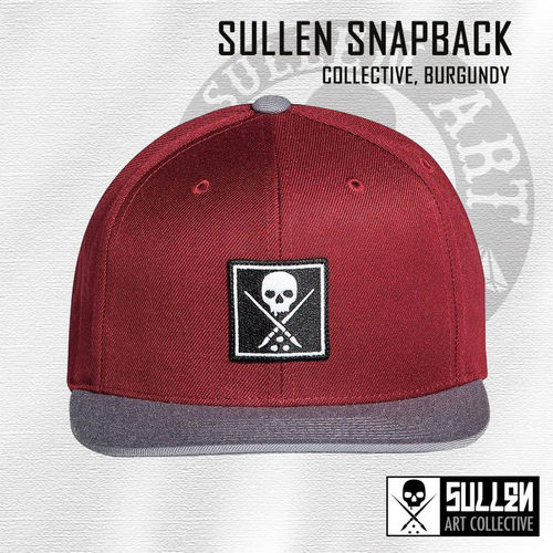 Sullen Snapback - Collective - Burgundy/Grey