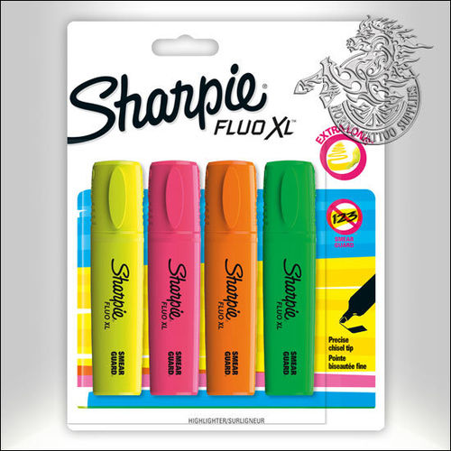 Sharpie Fluo XL Highlighter 4-Pack