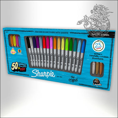 Sharpie Marker 23-Pack, Basic Colors + Metallic & Neon