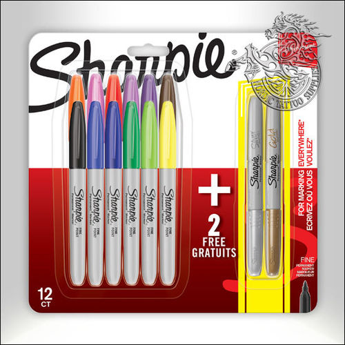 Sharpie Marker 14-Pack, 12 Colors + 2 Metallic Colors