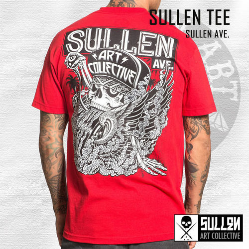 9b4beb73f8d Sullen - Sullen Ave. Tee - Red - Nordic Tattoo Supplies