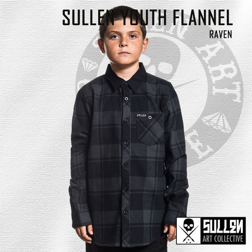 Sullen Youth - Raven Flannel Shirt - Black/Gunmetal