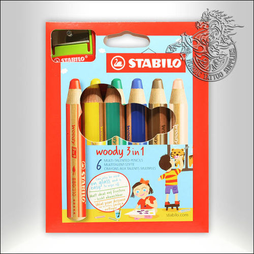 Stabilo Woody 3in1 - 6-Pack