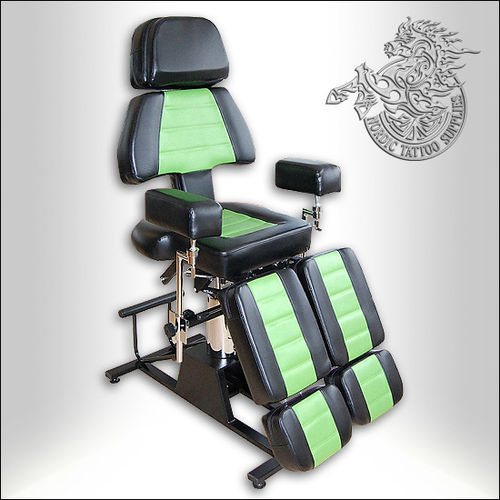 Professional Client Chair - Black & Green