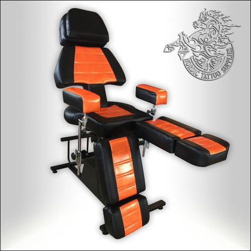 Professional Client Chair - Black & Orange