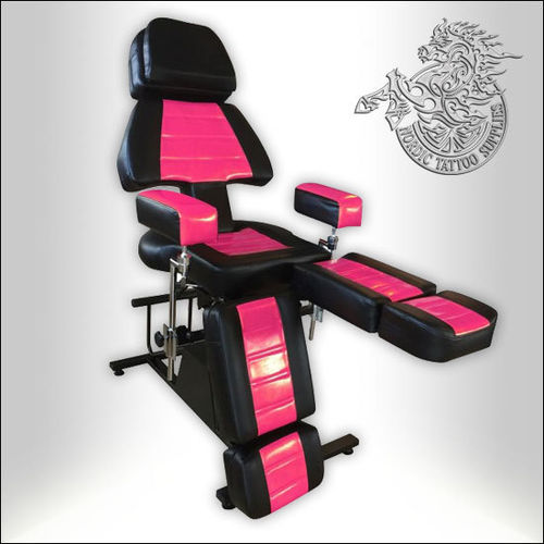 Professional Client Chair - Black & Pink