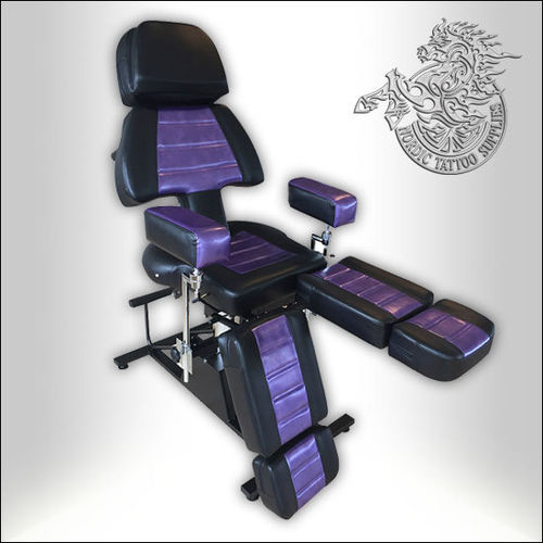 Professional Client Chair - Black & Purple