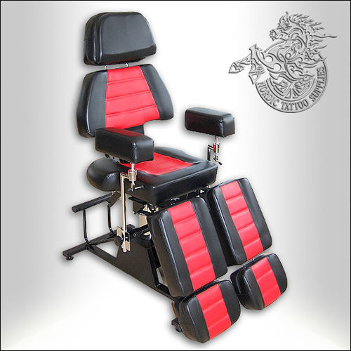 Professional Client Chair - Black & Red