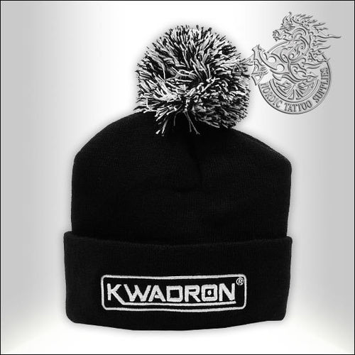 Kwadron Logo Beanie with Pompom - Black