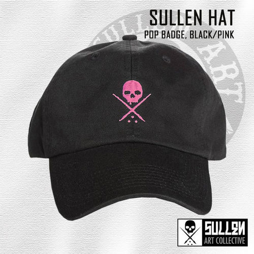 Sullen Hat - Pop Badge - Black/Pink