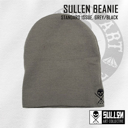Sullen - NE Standard Issue Beanie - Grey/Black