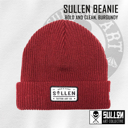 Sullen - Bold and Clean Beanie - Burgundy
