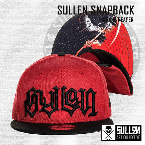 Sullen Snapback - Shane Reaper - Heather Red/Black
